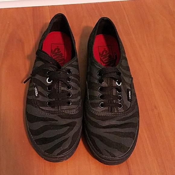 caada76024 Vans Shoes - Zebra Vans